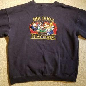 Big Dogs Fun w Attitude Casino Gambling Crewneck